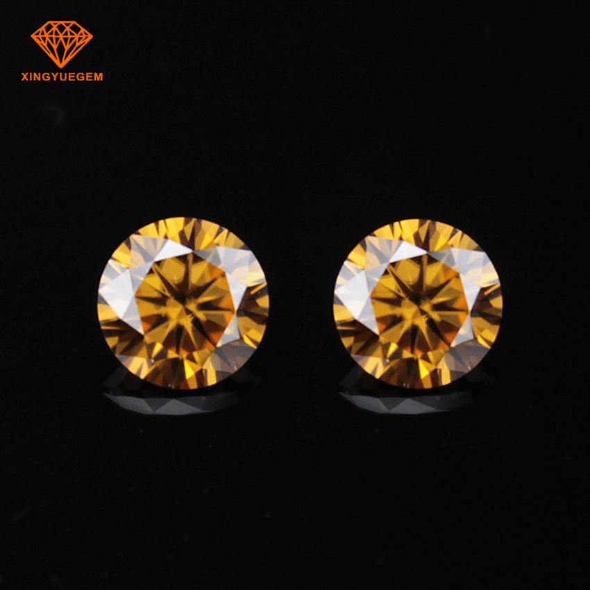 13mm 8 Carat big brown diamond color moissanite stone VVS quality passed diamond tested positive