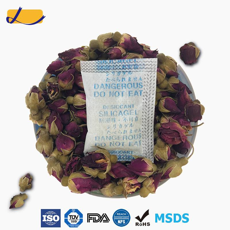 silica gel desiccant for dried rose tea stored