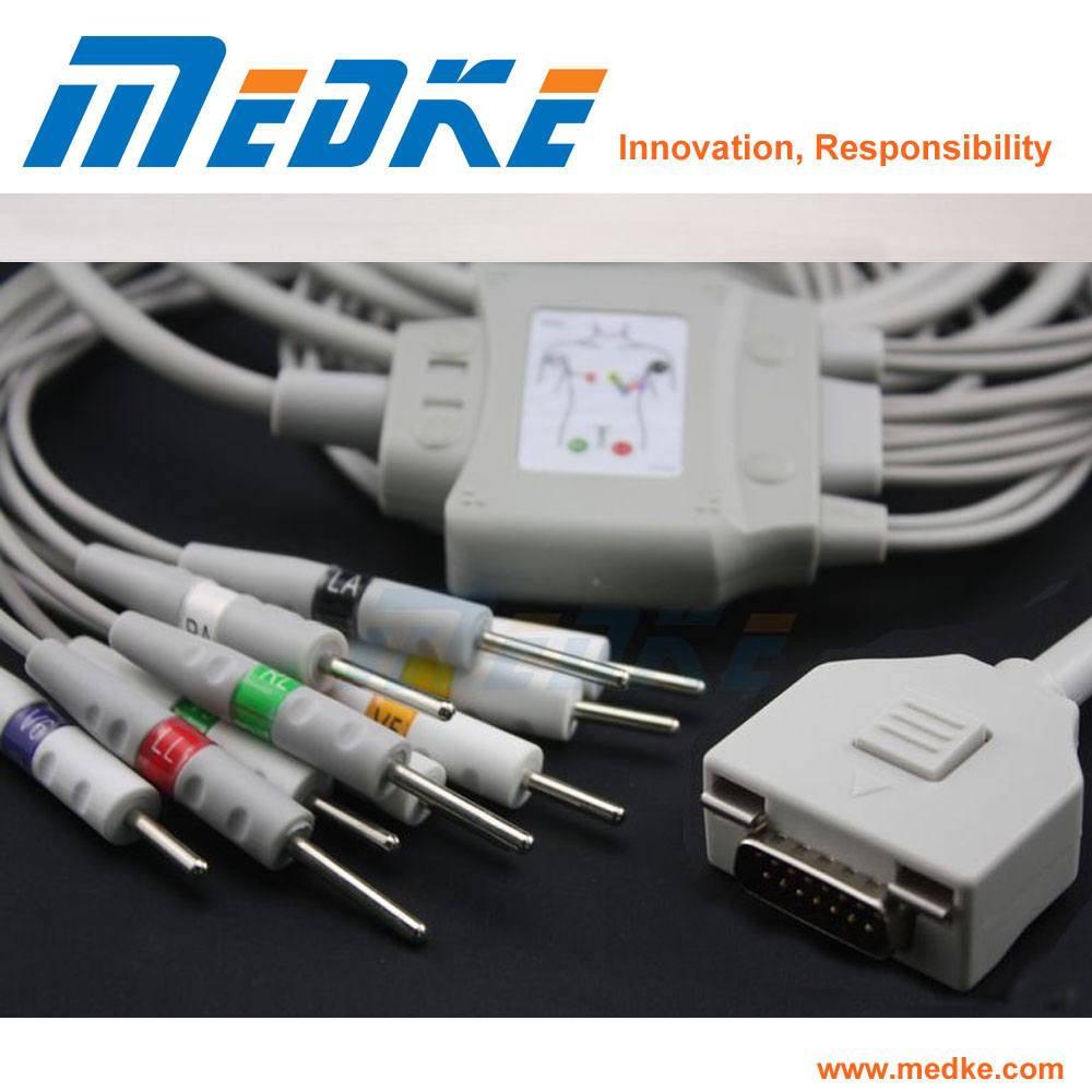 Compatible Fukuda Me Kp-500 EKG Needle Cable, 10 Lead
