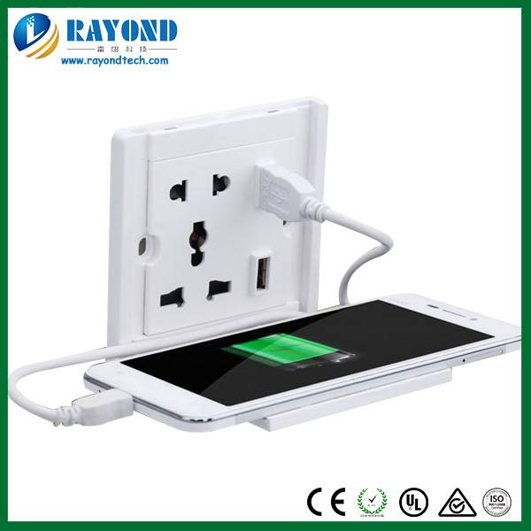 Universal 5V/2A USB Wall Socket with Mobile Phone Stand