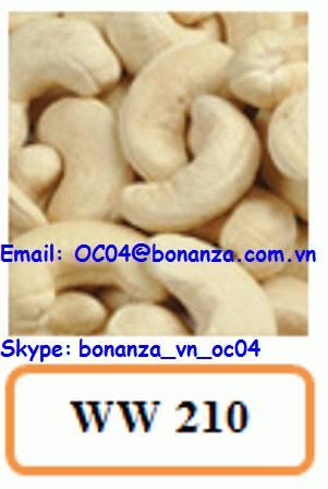 Cashew Nut White Whole 210 - WW 210