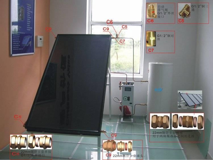 solar water heating system of 150 liter enamel tank