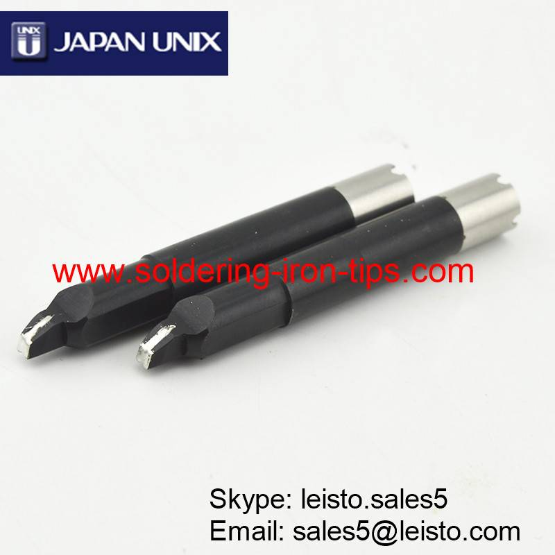 Lead-free black chromium Cross bit P1V10-23 Robotic slot soldering iron tips for Japan Unix solderin