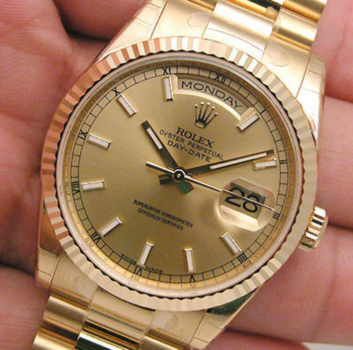 New Rolex DAY DATE President 118238 Mens 18K Yellow Gold Champagne Index Dial 36MM Luxury Watch