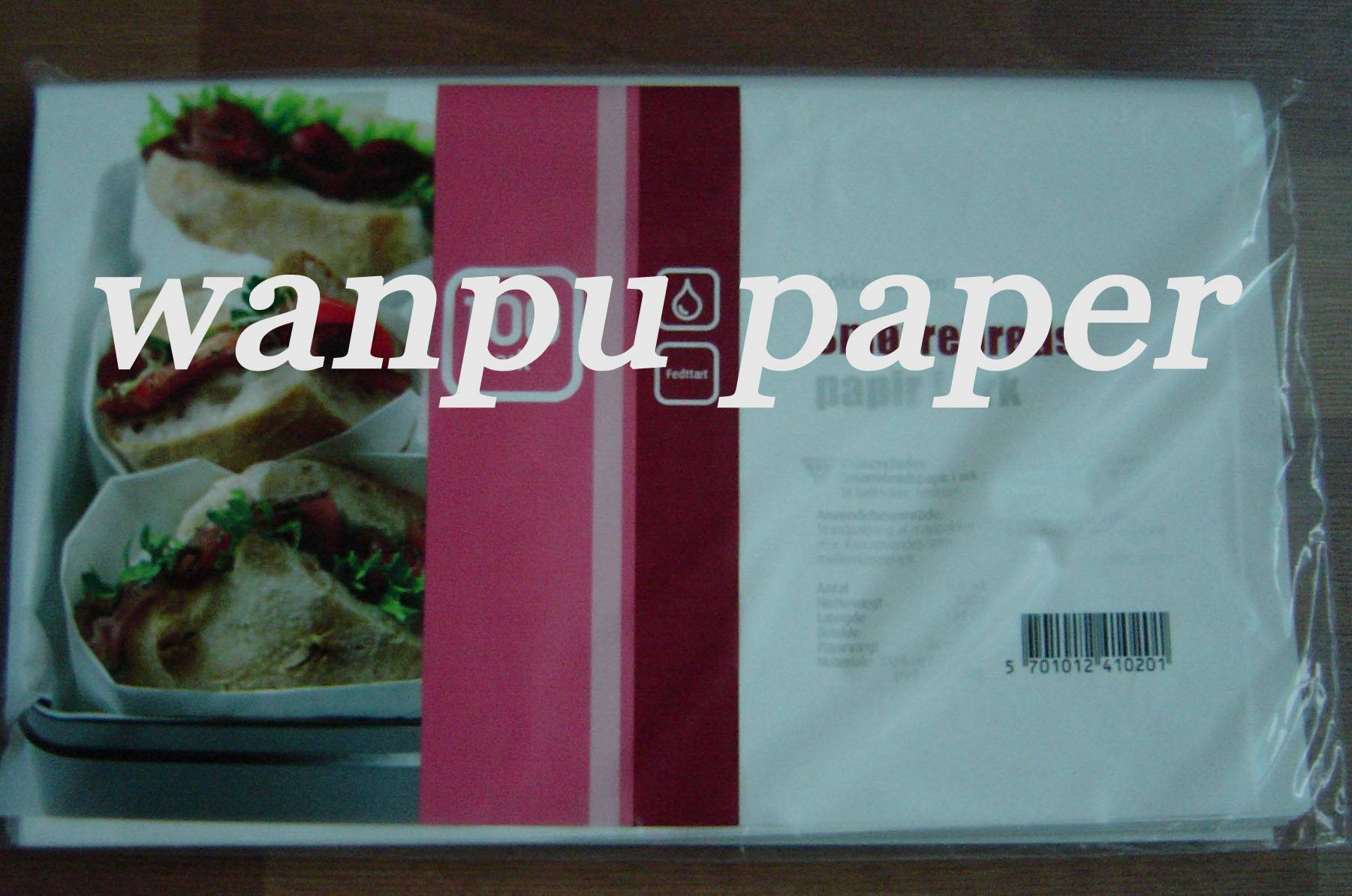 small pack greaseproof paper