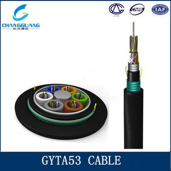 GYTA53 optic fiber cable Arieal Stranded armored 6 core duct fiber optic cable price