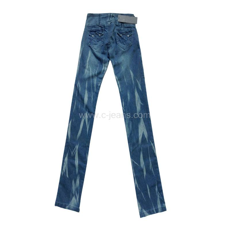 Fashion Lady's Jeans, Fashion Denim Ladies Jeans with 100% Cotton Fabric