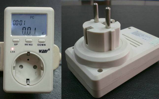Single phase energy meter 220V EU plug