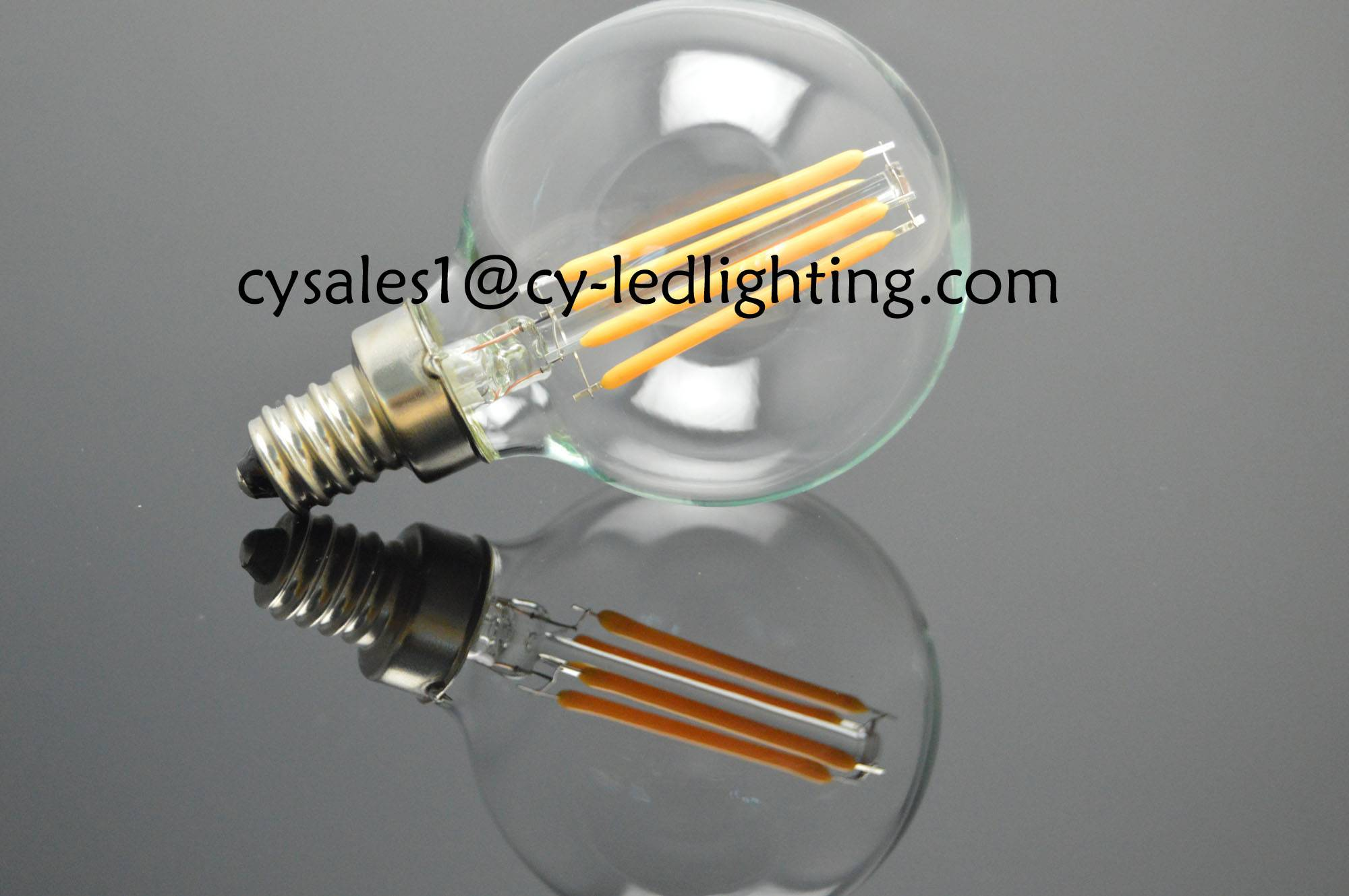 Small global bulb G50 filament led bulb 5W E14 string light bulb