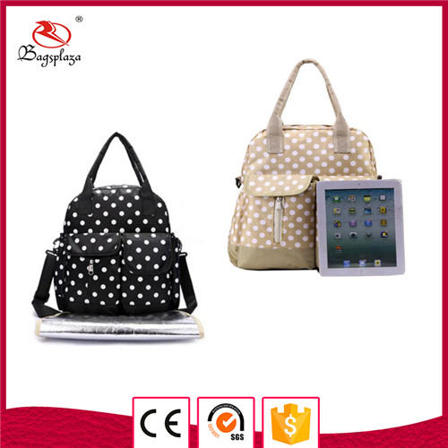 high quality chemical free waterproof polyester diaper bags mummy baby bag