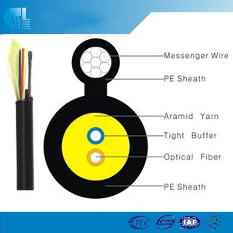 Mini Figure 8 drop Fiber Optic cable