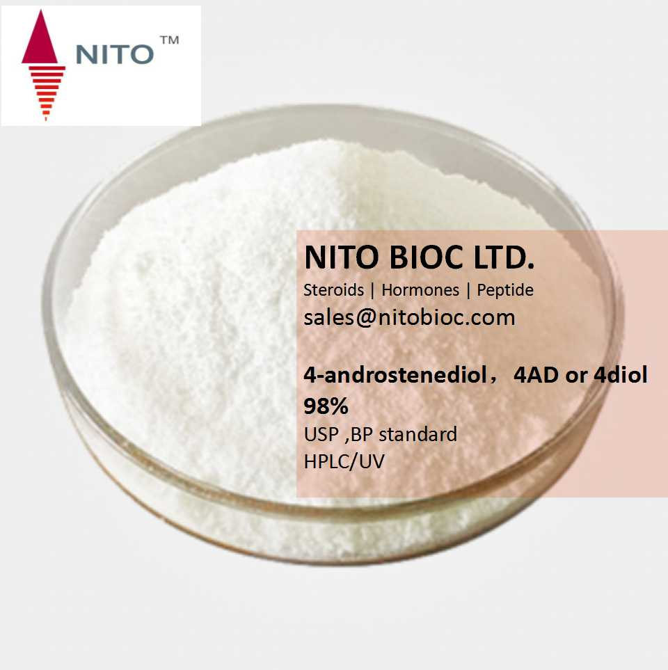 High Quality,Hot Sell Strong Intermediate Powder: 4-androstenediol,4AD or 4diol