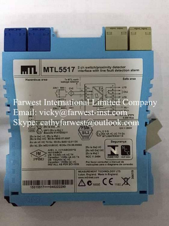 MTL5517 MTL Intrinsically Safe Isolators