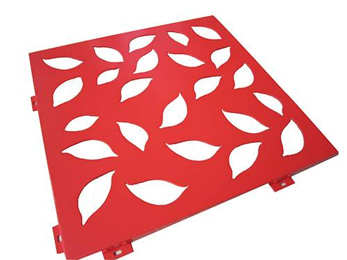 Perforated Aluminum Solid Panel with PVDF Coating for Decoration