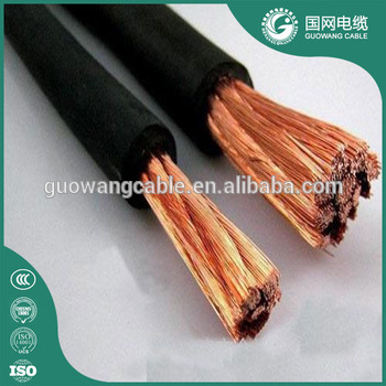 IEC60245 Flexible single core 70m,95m Copper/CCA Rubber Insulation YH YHF welding cable and sunproof