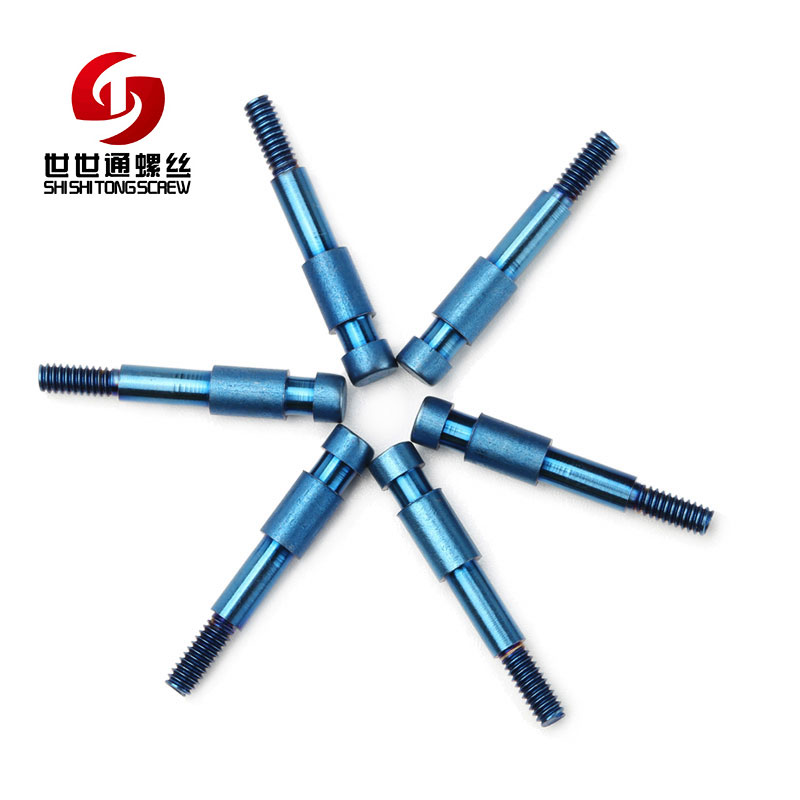 High Strength Special Turning Colour Anodized Titanium screw
