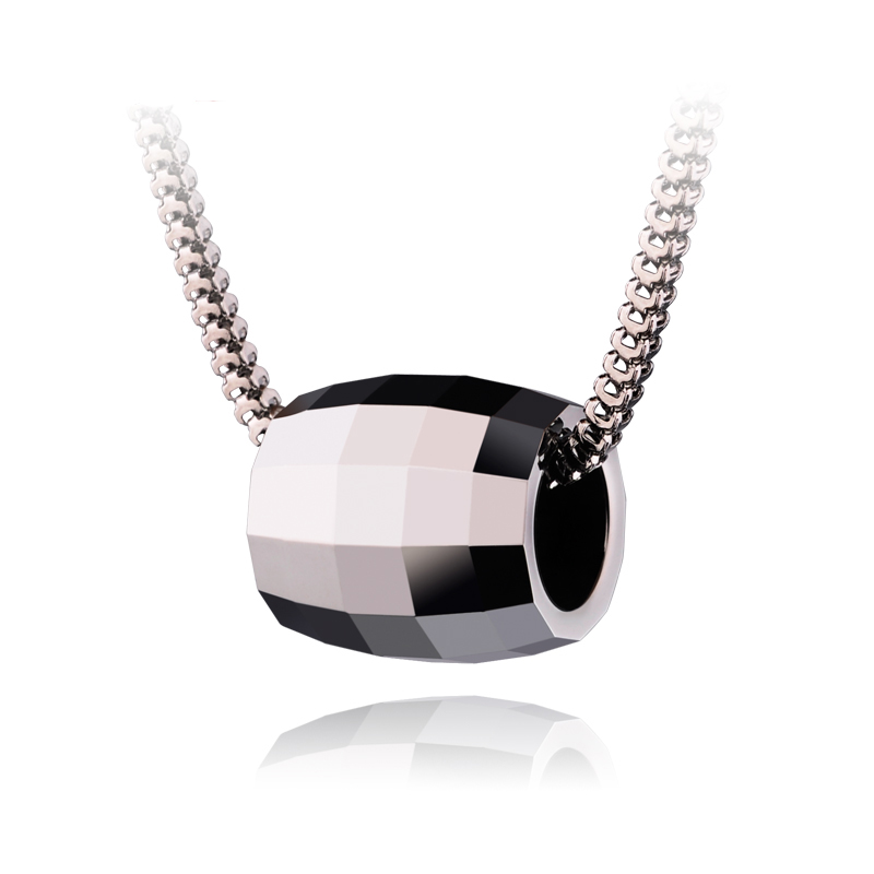 Fashionable Men's Tungsten Carbide Faceted Design Bead Pendant with Stainless steel Necklaces