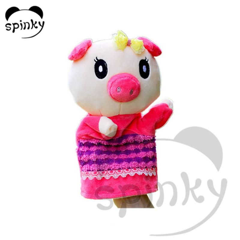 Plush educational toy stuffed hand puppets
