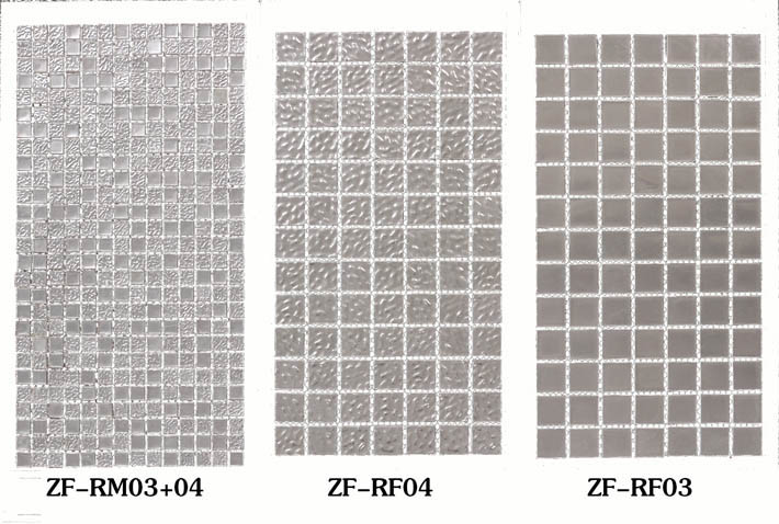 ZF-RF 24K surface real white gold silver mosaic tiles wall background or pool decotive