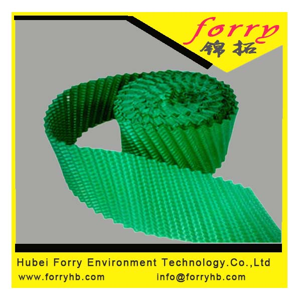 Green Color PVC Infill for Round tower