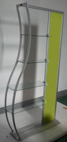 Retail Shelves, wave display, poster display with glass/acrylic shelves