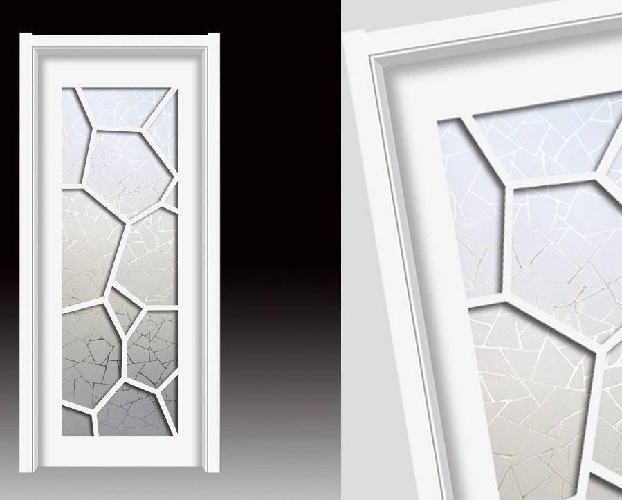 Latest Design Wooden Door MDF Interior Door Bathroom Door