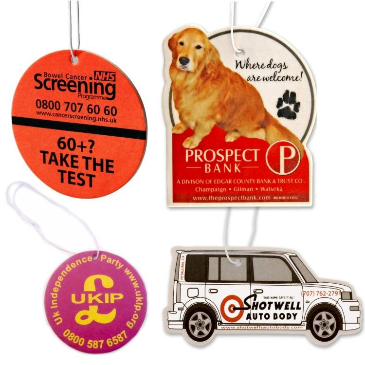 Scented Car Paper Air Freshener,Car Paper Fresheners in Customized Shapes