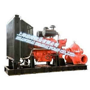 Diesel driving fire-fighting pump