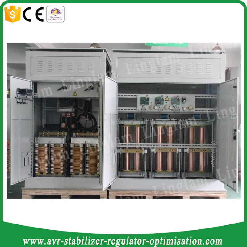 600KVA 3 phase electric/electricity/power stabilizer regulator