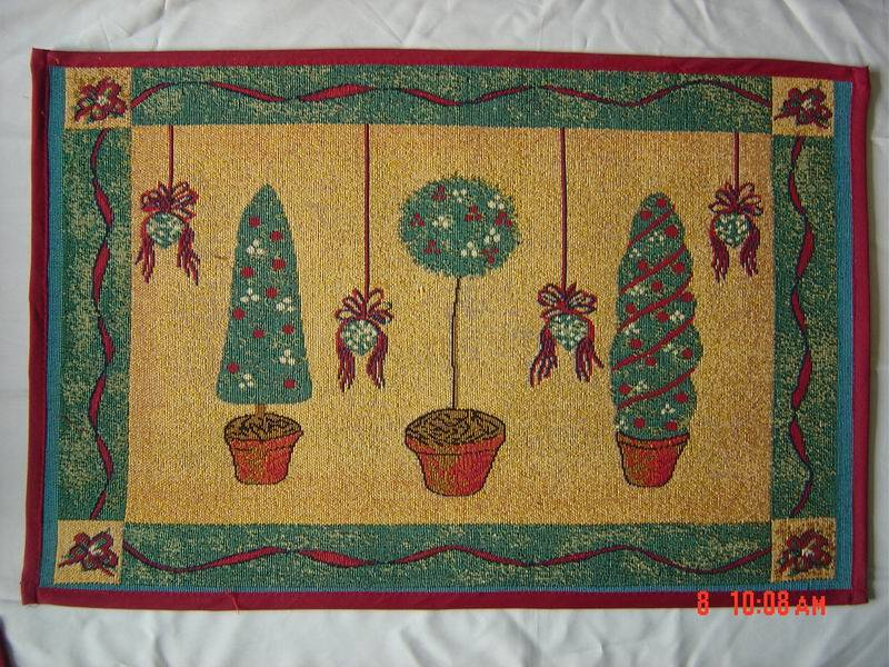 christmas jacquard door mat, jacquard rug, floor mat