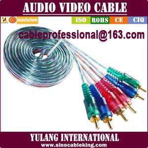 TRANSPARENT 3RCA-3RCA ADUIO VIDEO AV CABLE