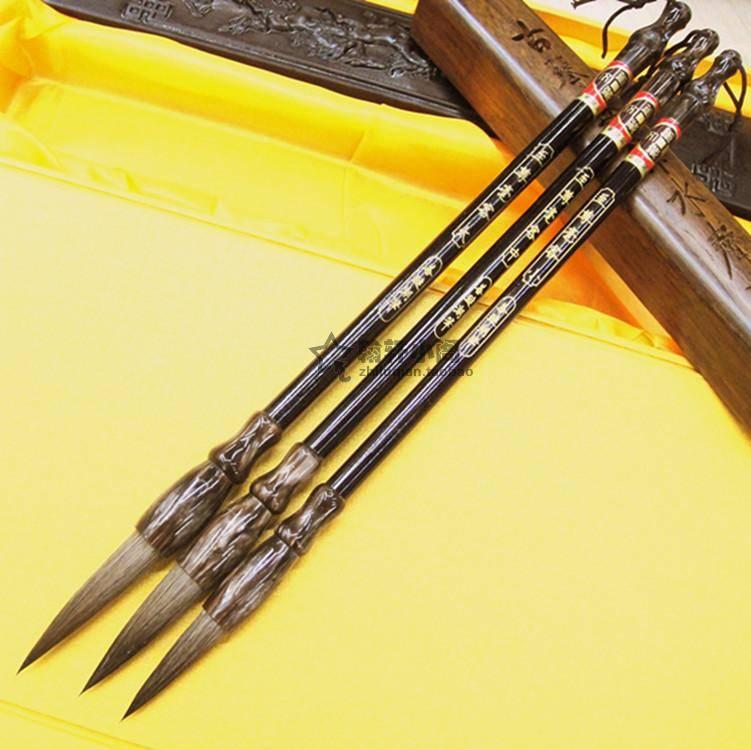Chinese writing brush calligraphy brush ZhiZunHaoKe Horse hair 3sizes CB001