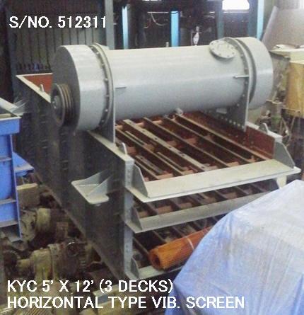 "USED ""KYC"" HORIZONTAL TYPE 5' X 12' VIBRATING SCREEN (3 DECKS) S/NO. 512311"