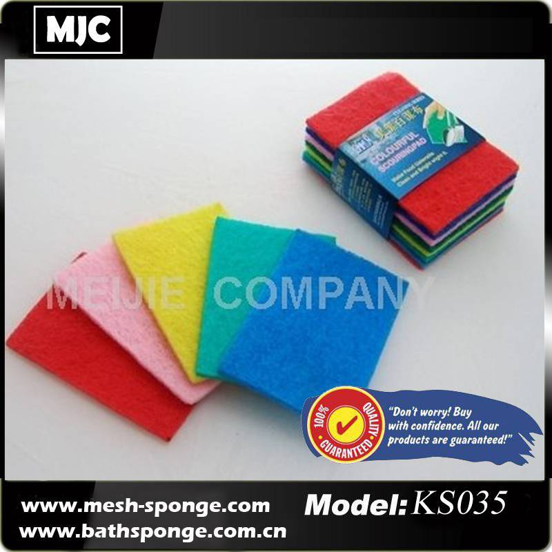 scouring pad, scouring scrubber