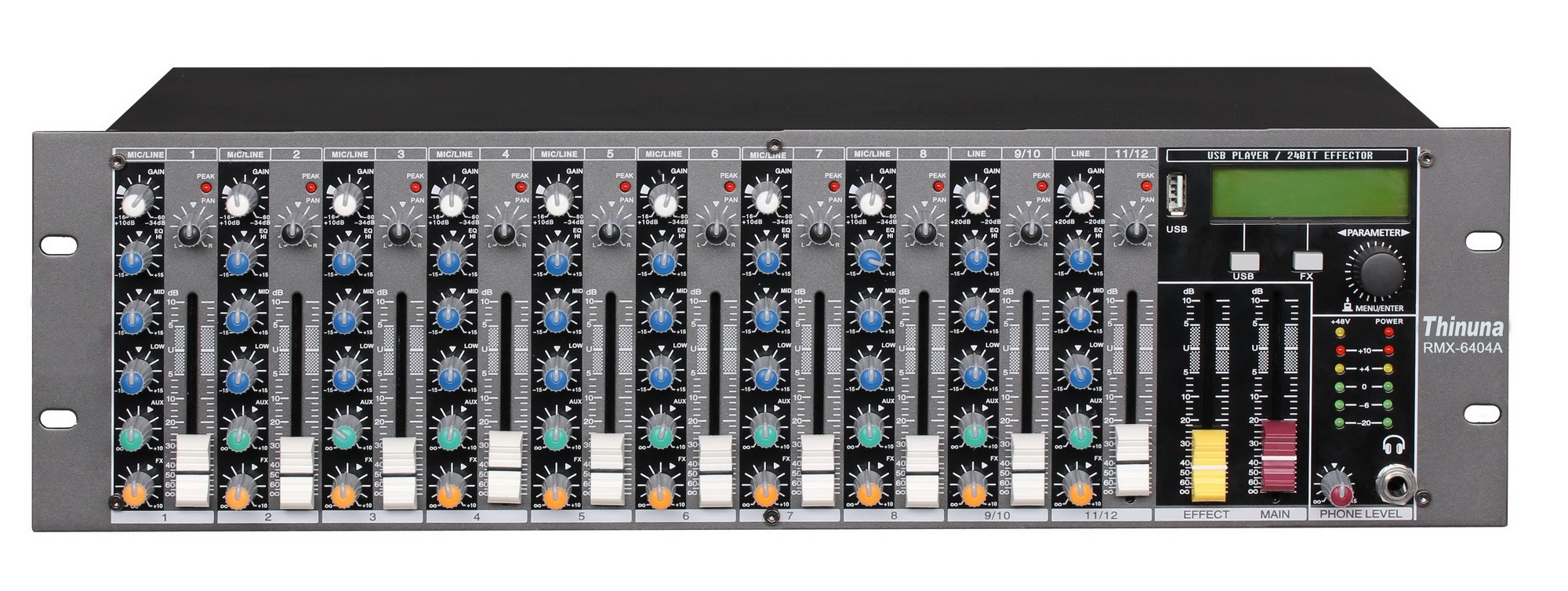 RMX-6404A Rack-Mounted Mixer