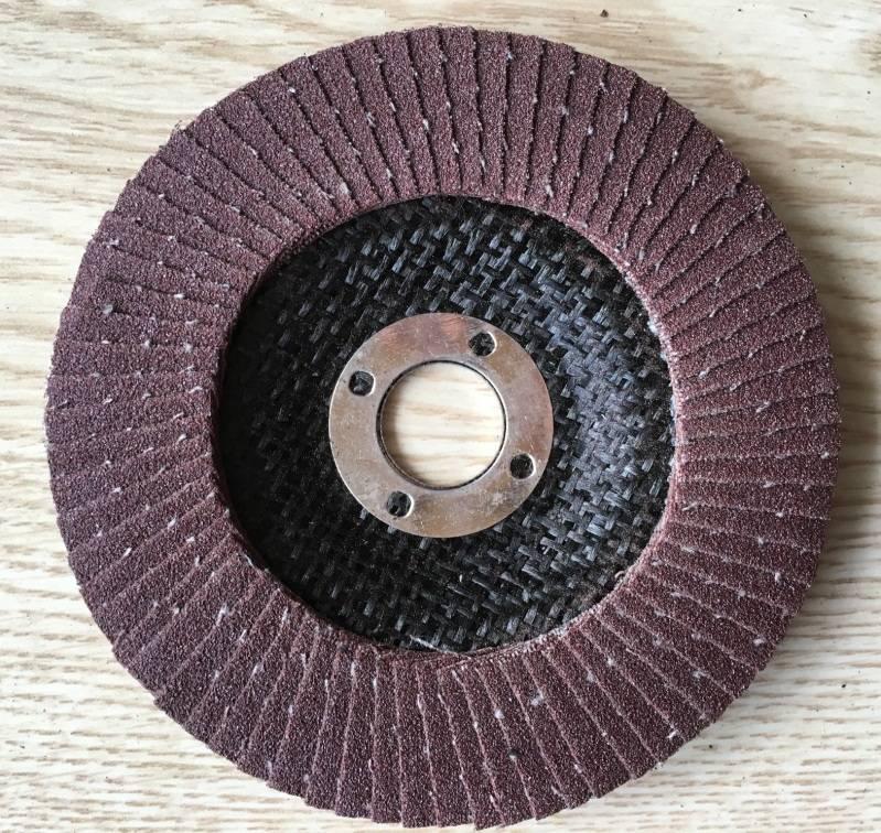 Fired aluminum oxide flap disc