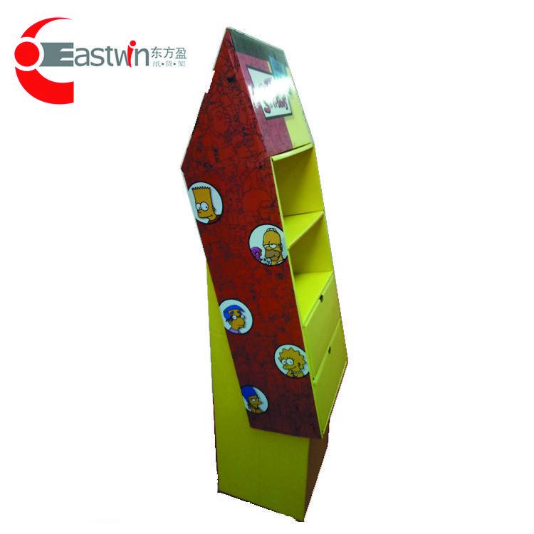 POP Cardboard Pallet Display Shelf Cardboard Promotional Display Shelf For Baby Toys