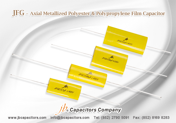 JFGA -- Axial Metallized Polyester Film Capacitor (CYCLOIDAL)