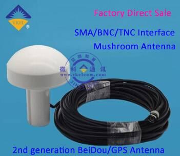 VKEL 2nd Generation BeiDou/GPS Active Antenna/Mushroom Antenna BNC Interface for Receiving Antenna O