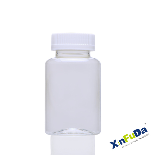 PET pharmaceutical transparent solid capsule container