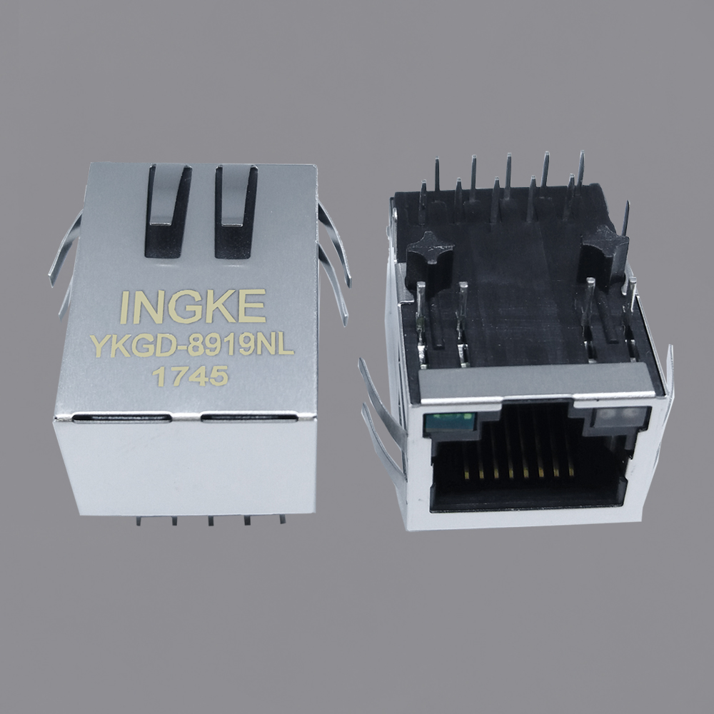 SI-61031-F 10/100/1000 Base-T RJ45 Jacks with Integrated Magnetics