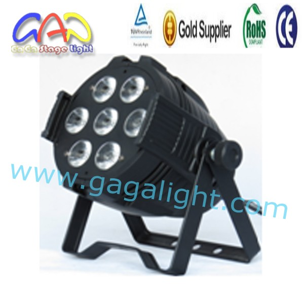 7pcs15w stage light rgb led flat par light wholesale
