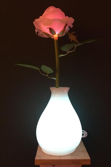 rose flower table lamp