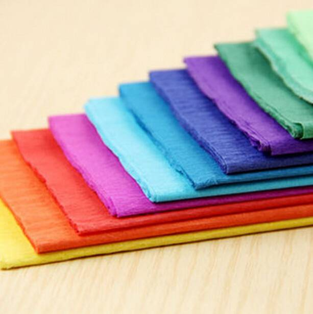 color crepe paper for wrapping gift/flower