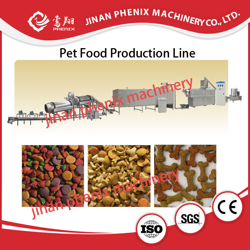 stainless steel dry pet dog food extruder processing machine