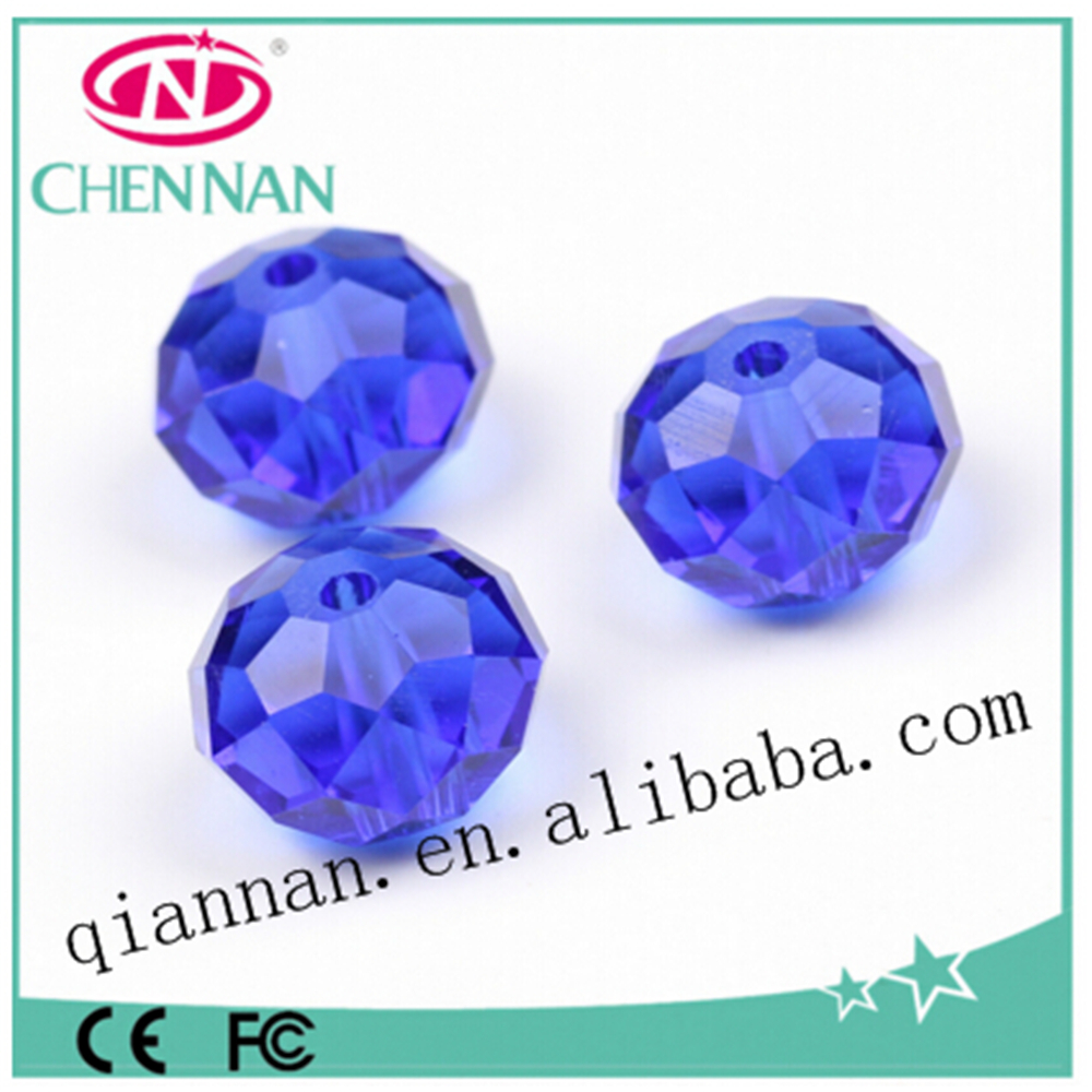 yiwu wholesale new design dark blue faceted rondelle craft beads