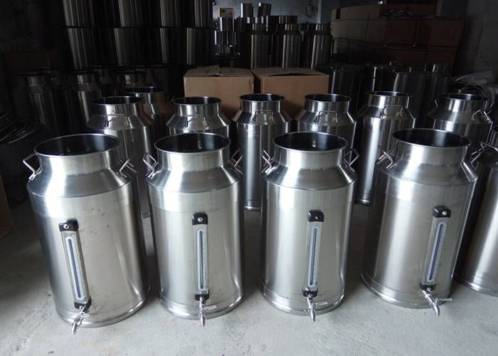50L Stainless steel milk drum with tap