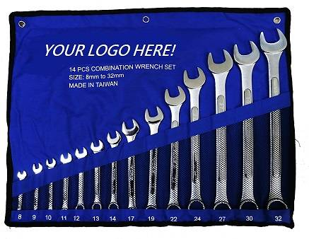 14 PCS Combination Wrench Set 8-32mm Spanner Set Wrench Kit Spanner Kit