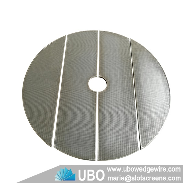 Wedge wire false bottom screen for lauter tun