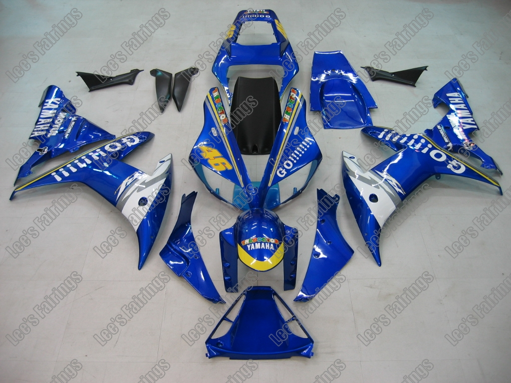 YZF-R1 2002 to 2003 injection abs body work original Blue White replacement sport bike fairing kits